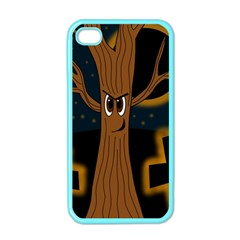 Halloween - Cemetery evil tree Apple iPhone 4 Case (Color)
