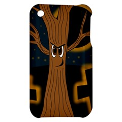 Halloween - Cemetery evil tree Apple iPhone 3G/3GS Hardshell Case