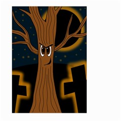 Halloween - Cemetery evil tree Large Garden Flag (Two Sides)