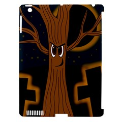 Halloween - Cemetery evil tree Apple iPad 3/4 Hardshell Case (Compatible with Smart Cover)