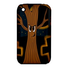 Halloween - Cemetery evil tree Apple iPhone 3G/3GS Hardshell Case (PC+Silicone)
