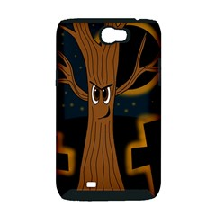 Halloween - Cemetery evil tree Samsung Galaxy Note 2 Hardshell Case (PC+Silicone)