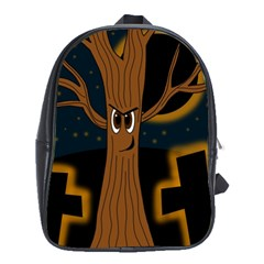 Halloween - Cemetery evil tree School Bags (XL)