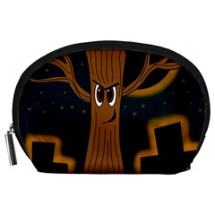Halloween - Cemetery evil tree Accessory Pouches (Large)