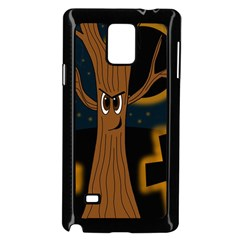Halloween   Cemetery Evil Tree Samsung Galaxy Note 4 Case (black)