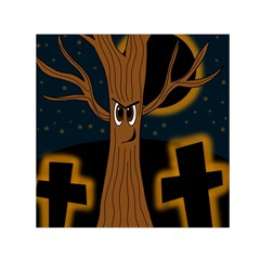 Halloween - Cemetery evil tree Small Satin Scarf (Square)