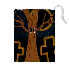 Halloween - Cemetery evil tree Drawstring Pouches (Extra Large)