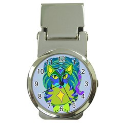 Peacock Tabby Money Clip Watches