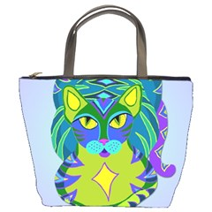 Peacock Tabby Bucket Bags