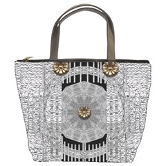 Gold And Silver Is The Way Bucket Bags