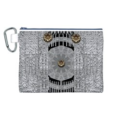 Gold And Silver Is The Way Canvas Cosmetic Bag (L)