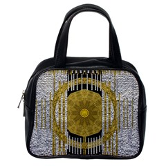 Silver And Gold Is The Way To Luck Classic Handbags (one Side)