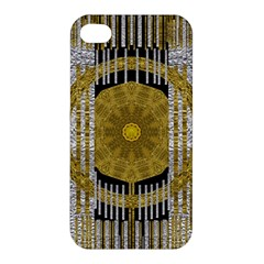 Silver And Gold Is The Way To Luck Apple iPhone 4/4S Hardshell Case