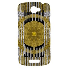 Silver And Gold Is The Way To Luck HTC One S Hardshell Case