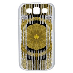 Silver And Gold Is The Way To Luck Samsung Galaxy S III Case (White)