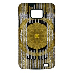 Silver And Gold Is The Way To Luck Samsung Galaxy S II i9100 Hardshell Case (PC+Silicone)
