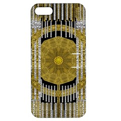 Silver And Gold Is The Way To Luck Apple Iphone 5 Hardshell Case With Stand
