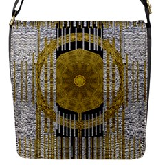 Silver And Gold Is The Way To Luck Flap Messenger Bag (S)