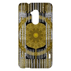 Silver And Gold Is The Way To Luck HTC One Max (T6) Hardshell Case