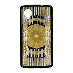 Silver And Gold Is The Way To Luck Nexus 5 Case (Black)
