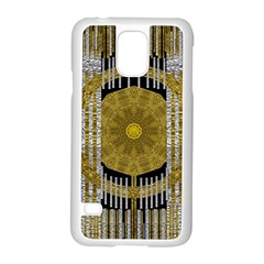 Silver And Gold Is The Way To Luck Samsung Galaxy S5 Case (White)