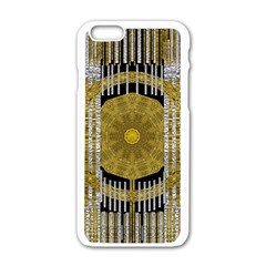 Silver And Gold Is The Way To Luck Apple Iphone 6/6s White Enamel Case