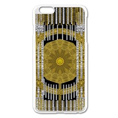 Silver And Gold Is The Way To Luck Apple Iphone 6 Plus/6s Plus Enamel White Case
