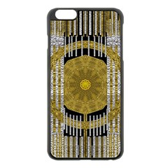 Silver And Gold Is The Way To Luck Apple iPhone 6 Plus/6S Plus Black Enamel Case