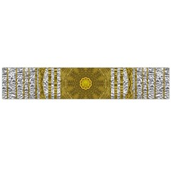 Silver And Gold Is The Way To Luck Flano Scarf (large)