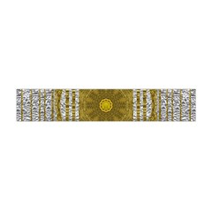 Silver And Gold Is The Way To Luck Flano Scarf (Mini)