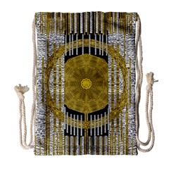 Silver And Gold Is The Way To Luck Drawstring Bag (Large)