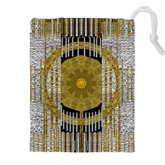 Silver And Gold Is The Way To Luck Drawstring Pouches (XXL)