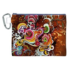 Abstract Abstraction Color Bright Canvas Cosmetic Bag (XXL)
