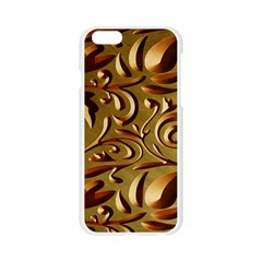 Abstract Gold Art Pattern Apple Seamless iPhone 6/6S Case (Transparent)