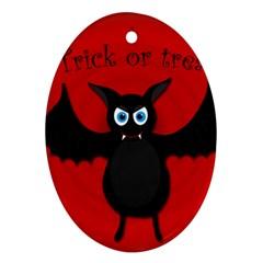 Halloween bat Ornament (Oval)