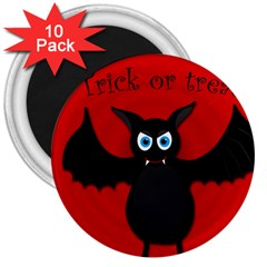 Halloween bat 3  Magnets (10 pack)