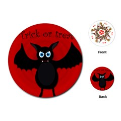 Halloween bat Playing Cards (Round)