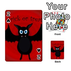 Halloween bat Playing Cards 54 Designs