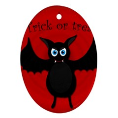 Halloween bat Oval Ornament (Two Sides)