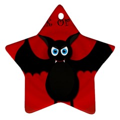 Halloween bat Star Ornament (Two Sides)