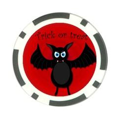 Halloween bat Poker Chip Card Guards