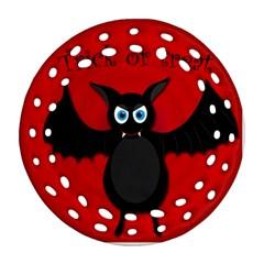 Halloween bat Round Filigree Ornament (2Side)