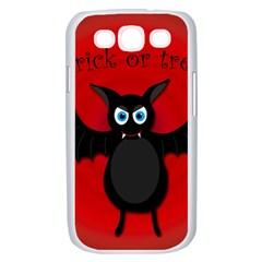 Halloween bat Samsung Galaxy S III Case (White)