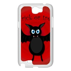 Halloween bat Samsung Galaxy Note 2 Case (White)