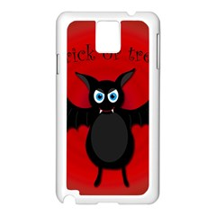 Halloween bat Samsung Galaxy Note 3 N9005 Case (White)