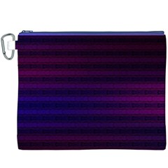 Abstract Lines Pattern Fractal Canvas Cosmetic Bag (XXXL)