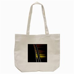 Abstract Multicolor Vectors Flow Lines Graphics Tote Bag (Cream)