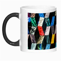 Abstract Multicolor Cubes 3d Quilt Fabric Morph Mugs