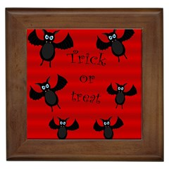 Halloween bats  Framed Tiles
