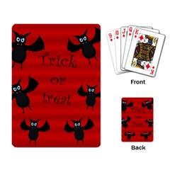 Halloween bats  Playing Card